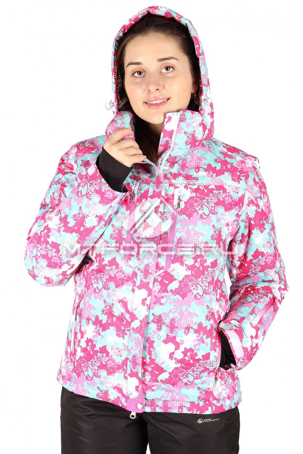 Купить                                  оптом Куртка горнолыжная женская розового цвета 1526-1R