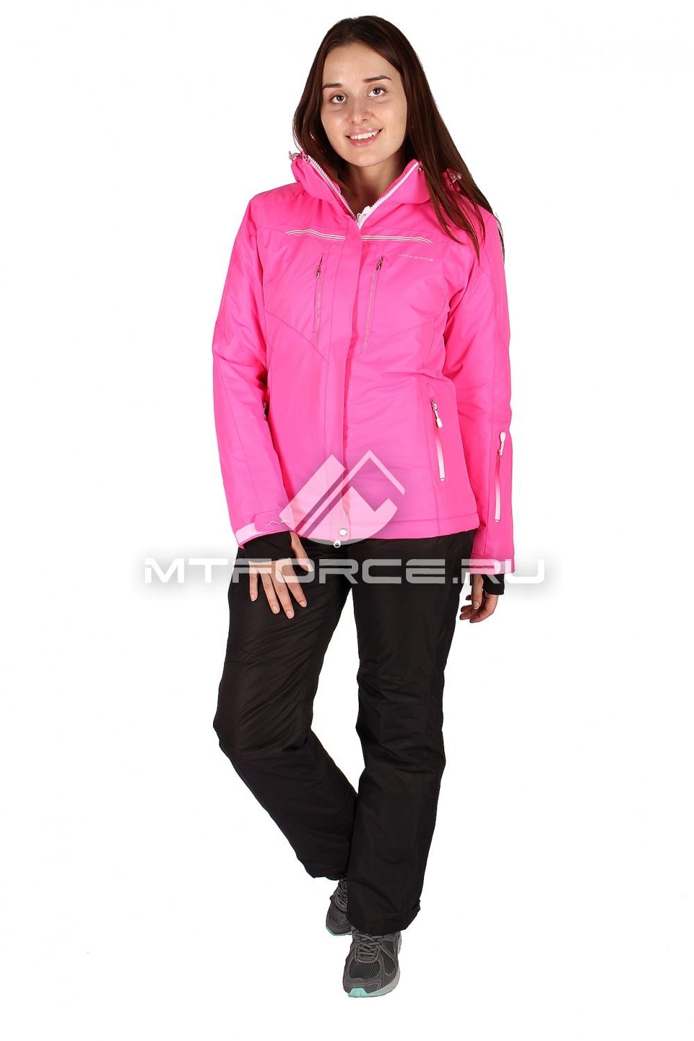 Купить оптом Костюм горнолыжный женский розового цвета 01526R