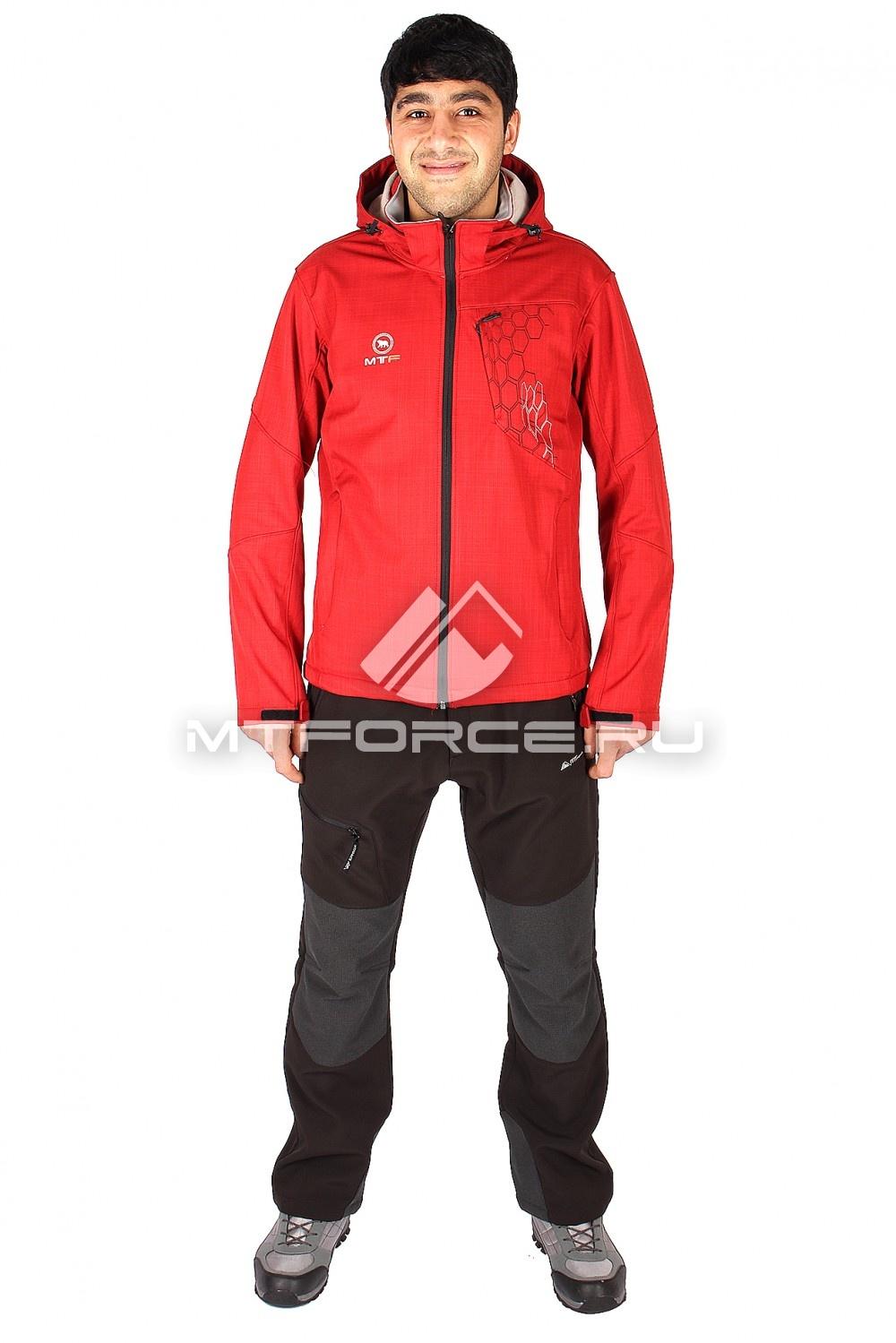 Купить                                  оптом Костюм виндстопер мужской красного цвета  01528Kr
