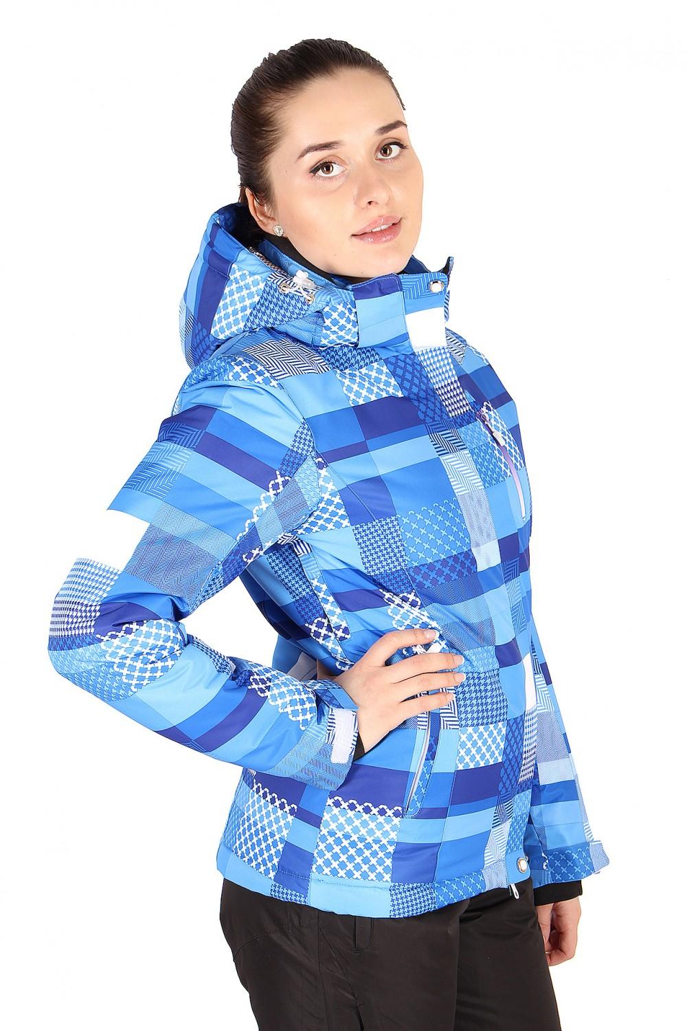 Купить оптом Костюм горнолыжный женский синего цвета 01784S в Нижнем Новгороде