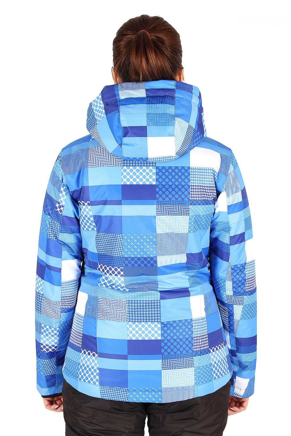Купить оптом Костюм горнолыжный женский синего цвета 01784S в Воронеже