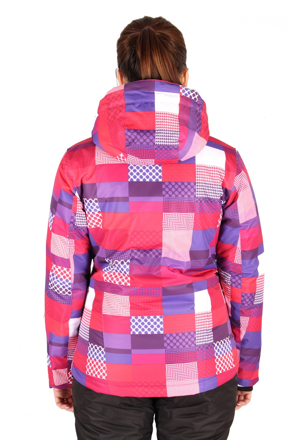 Купить оптом Костюм горнолыжный женский розового цвета 01784R в Новосибирске