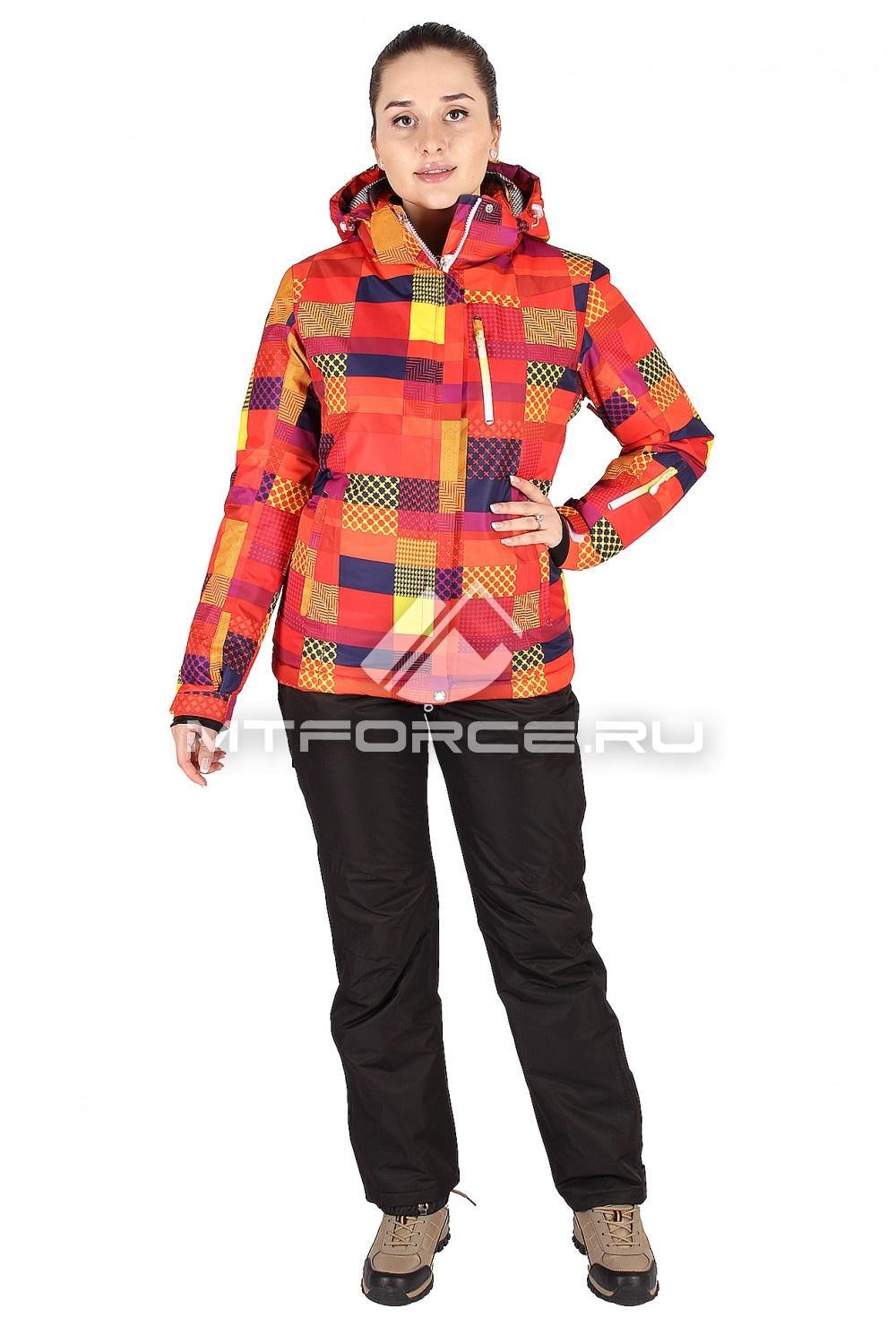 Купить                                  оптом Костюм горнолыжный женский оранжевого цвета 01531O
