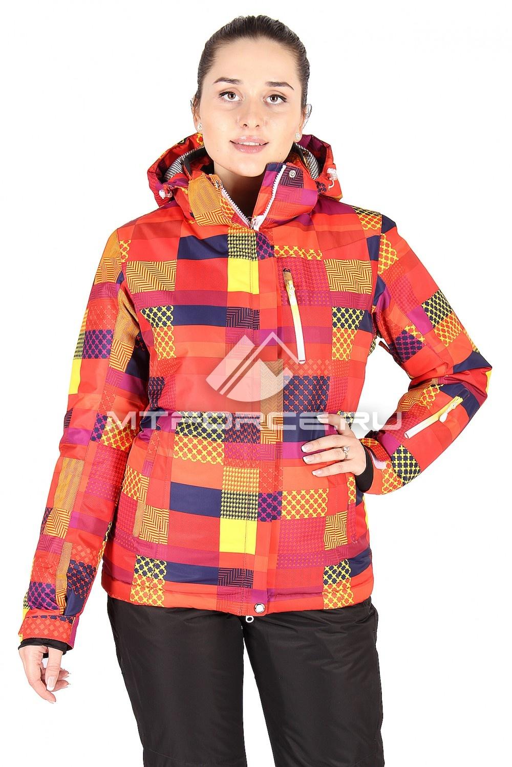 Купить                                  оптом Куртка горнолыжная женская оранжевого цвета 1531O