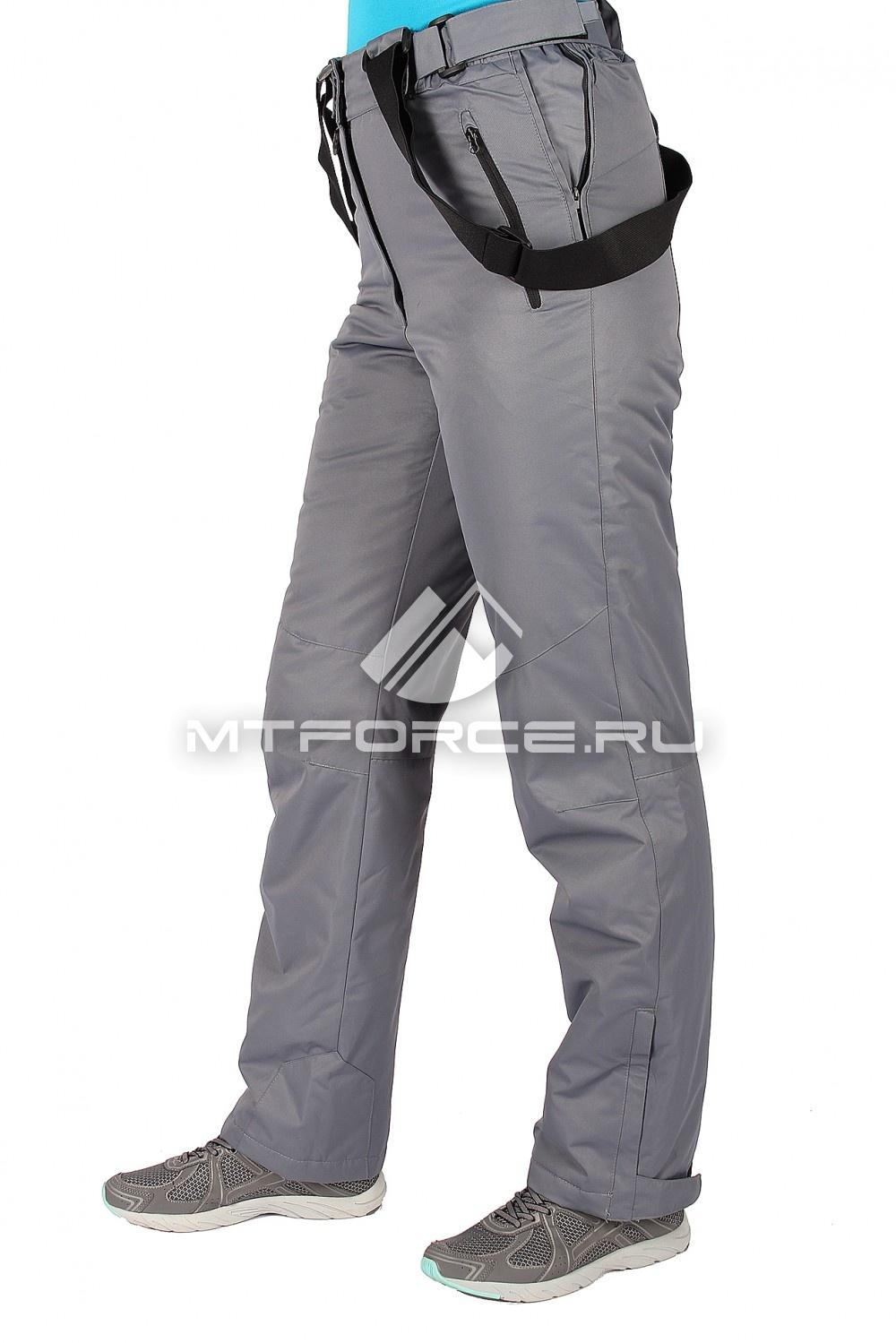 Купить                                  оптом Брюки горнолыжные женские серого цвета 15326Sr