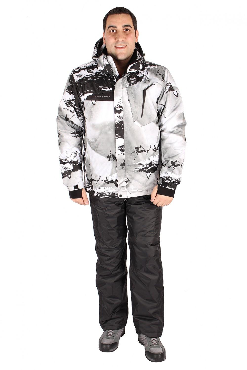 Купить  оптом Костюм горнолыжный мужской серого цвета 01550Sr
