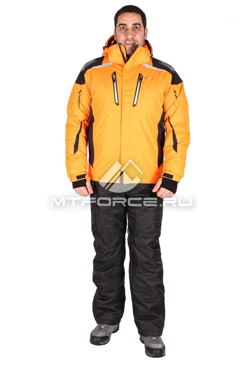 Купить                                  оптом Костюм горнолыжный мужской оранжевого цвета 01552O