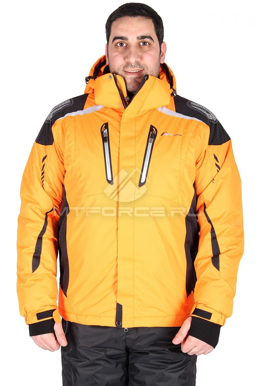 Купить  оптом Куртка горнолыжная мужская оранжевого цвета 1552O