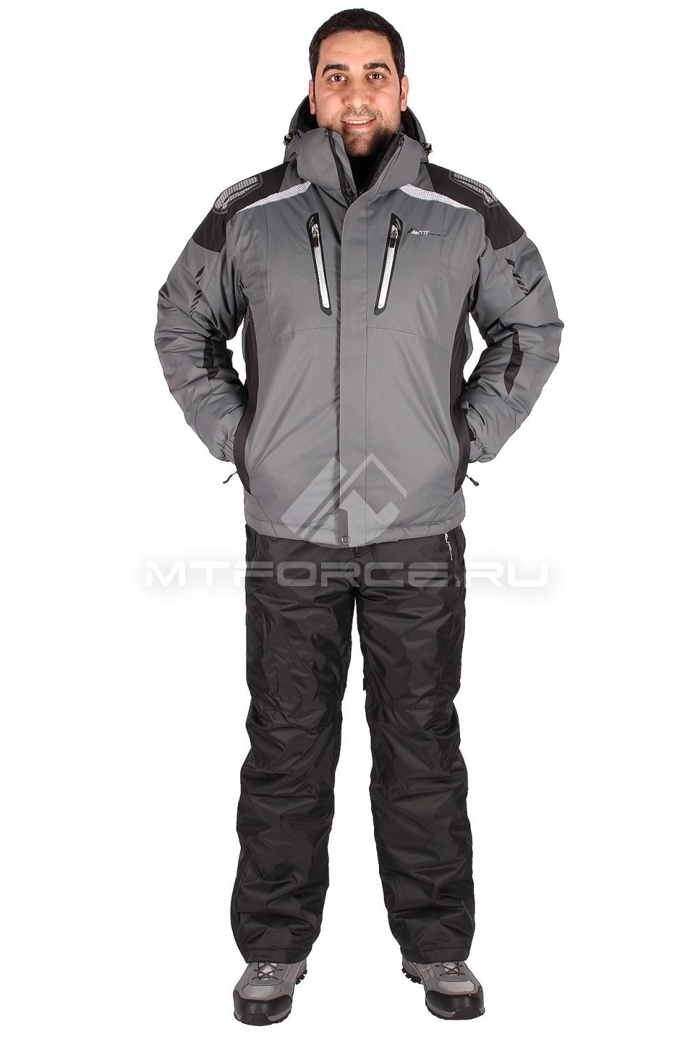 Купить                                  оптом Костюм горнолыжный мужской серого цвета 01552Sr