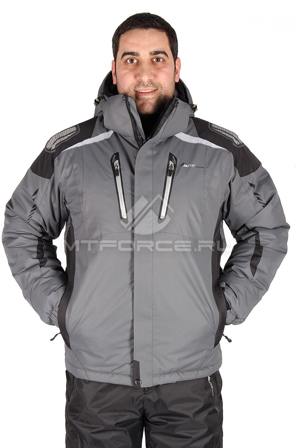 Купить                                  оптом Куртка горнолыжная мужская серого цвета 1552Sr в Санкт-Петербурге