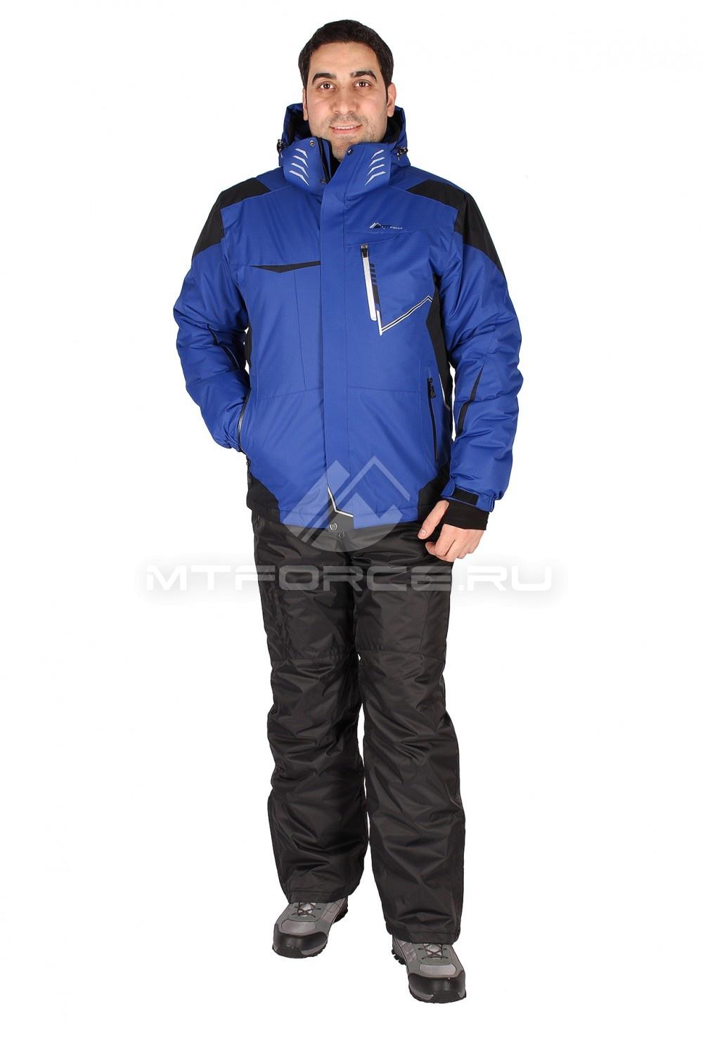 Купить                                  оптом Костюм горнолыжный мужской синего цвета 01553S