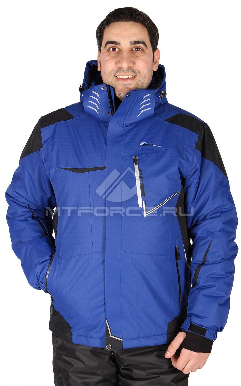 Купить                                  оптом Куртка горнолыжная мужская синего цвета 1553S в Новосибирске