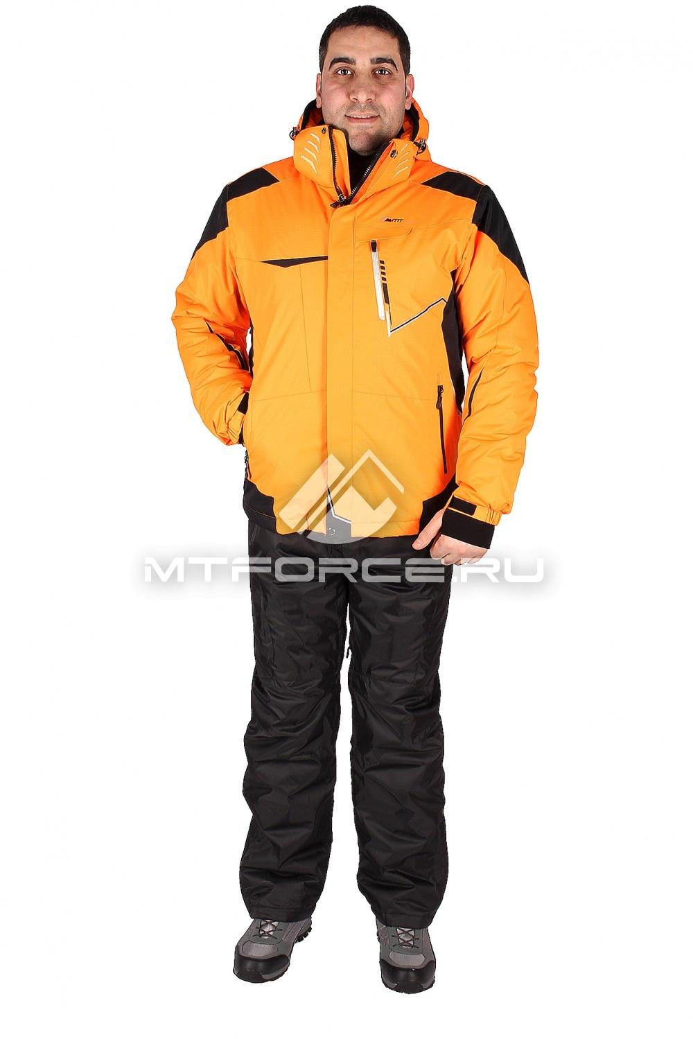 Купить оптом Костюм горнолыжный мужской оранжевого цвета 01553O