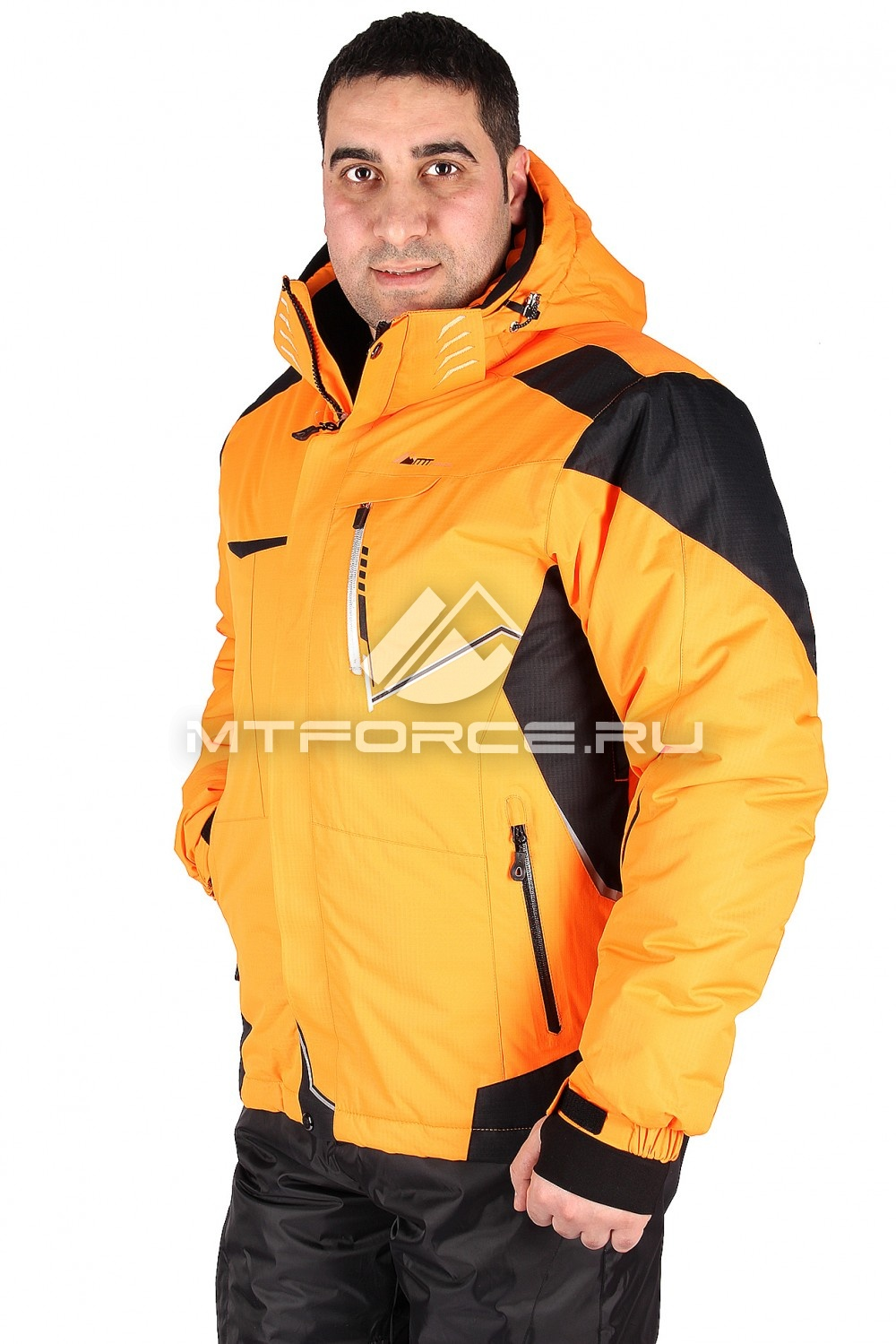 Купить                                  оптом Куртка горнолыжная мужская оранжевого цвета 1553O