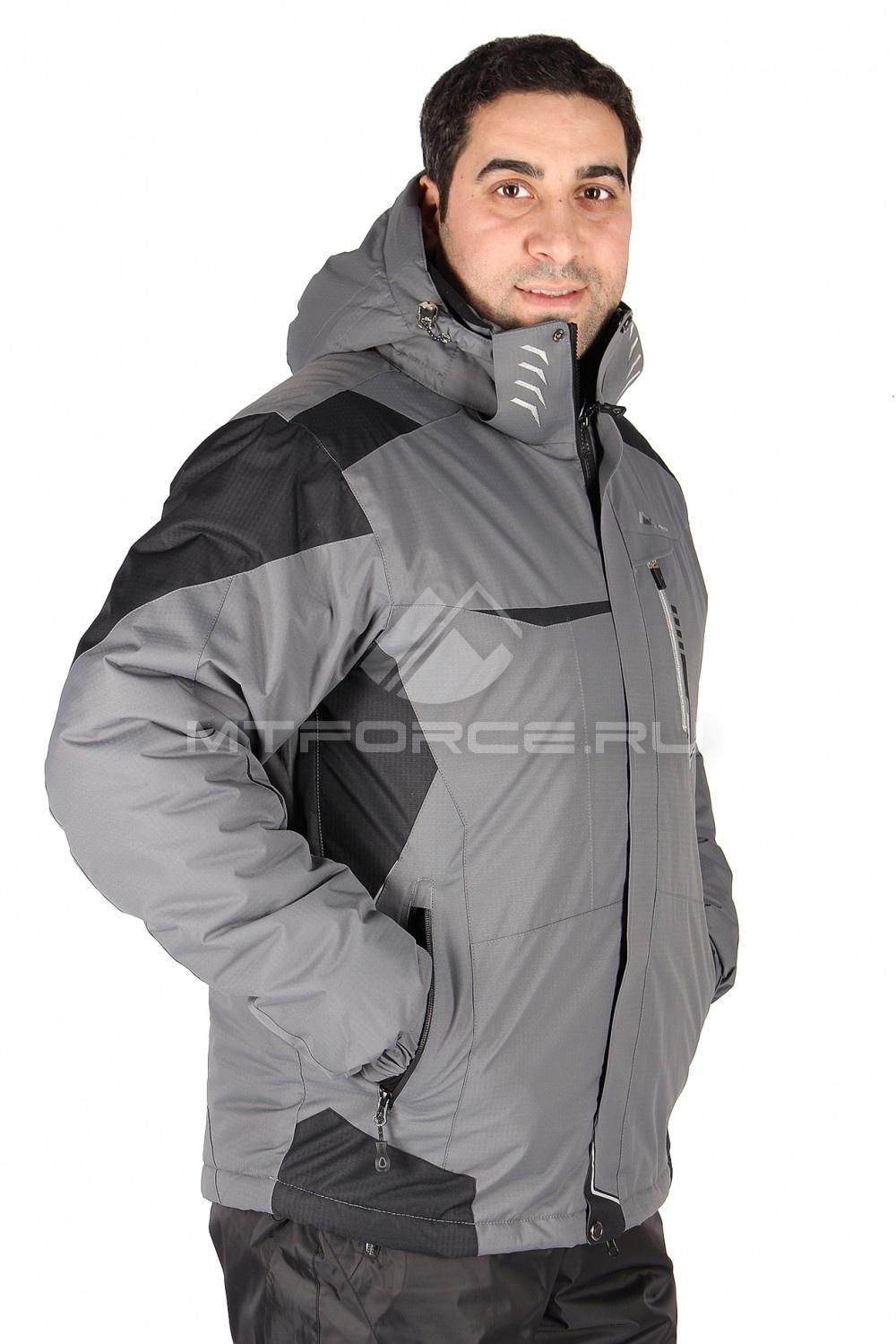 Купить  оптом Куртка горнолыжная мужская серого цвета 1553Sr