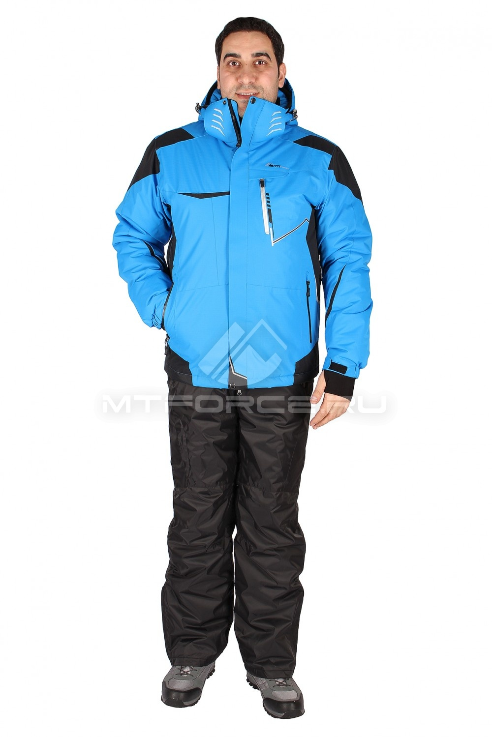 Купить                                  оптом Костюм горнолыжный мужской голубого цвета 01553Gl