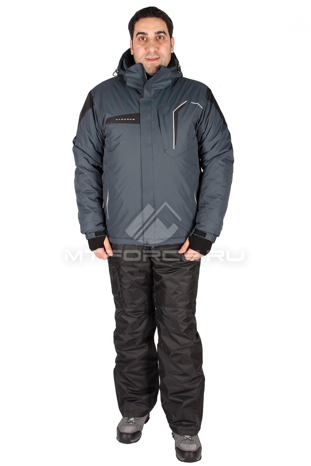 Купить                                  оптом Костюм горнолыжный мужской серого цвета 01554Sr