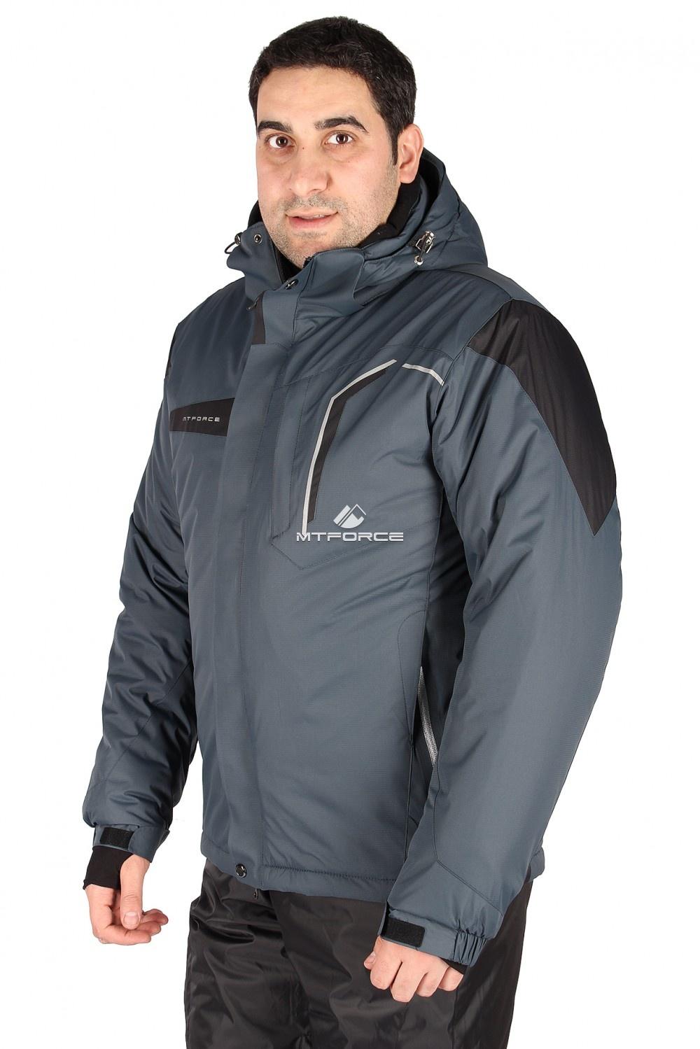 Купить                                  оптом Куртка горнолыжная мужская серого цвета 1554Sr