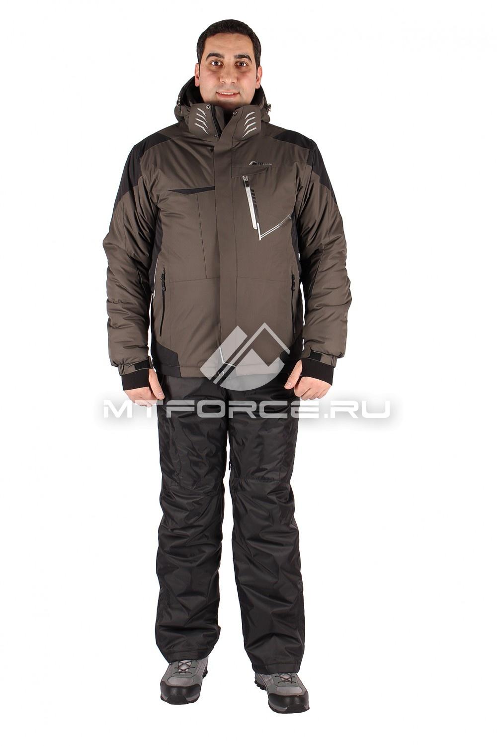 Купить                                  оптом Костюм горнолыжный мужской цвета хаки 01555Kh