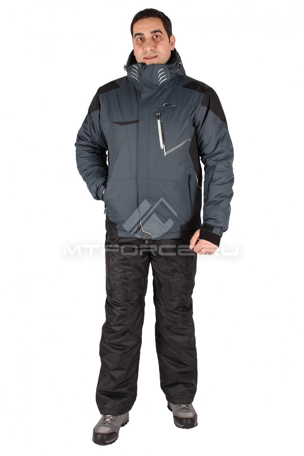 Купить                                  оптом Костюм горнолыжный мужской темно-серого цвета 01555TC