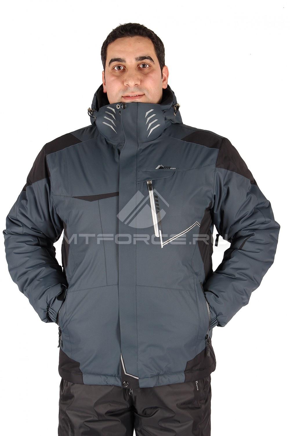 Купить                                  оптом Куртка горнолыжная мужская темно-серого цвета 1555TC
