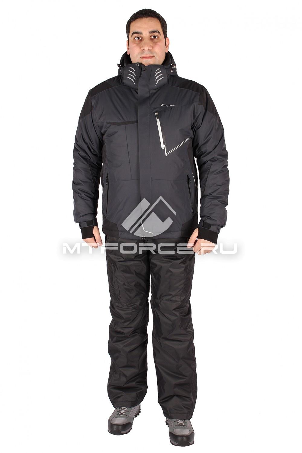Купить                                  оптом Костюм горнолыжный мужской серого цвета 01555Sr
