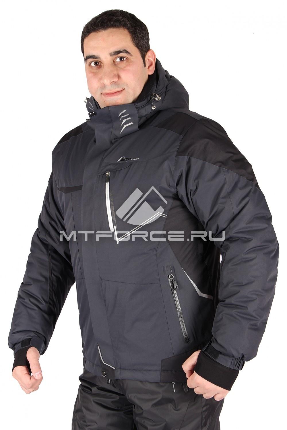 Купить оптом Куртка горнолыжная мужская серого цвета 1555Sr