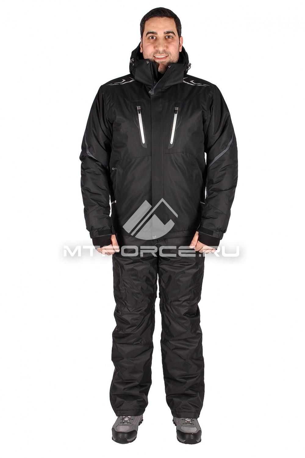 Купить                                  оптом Костюм горнолыжный мужской чорного цвета 01556Ch