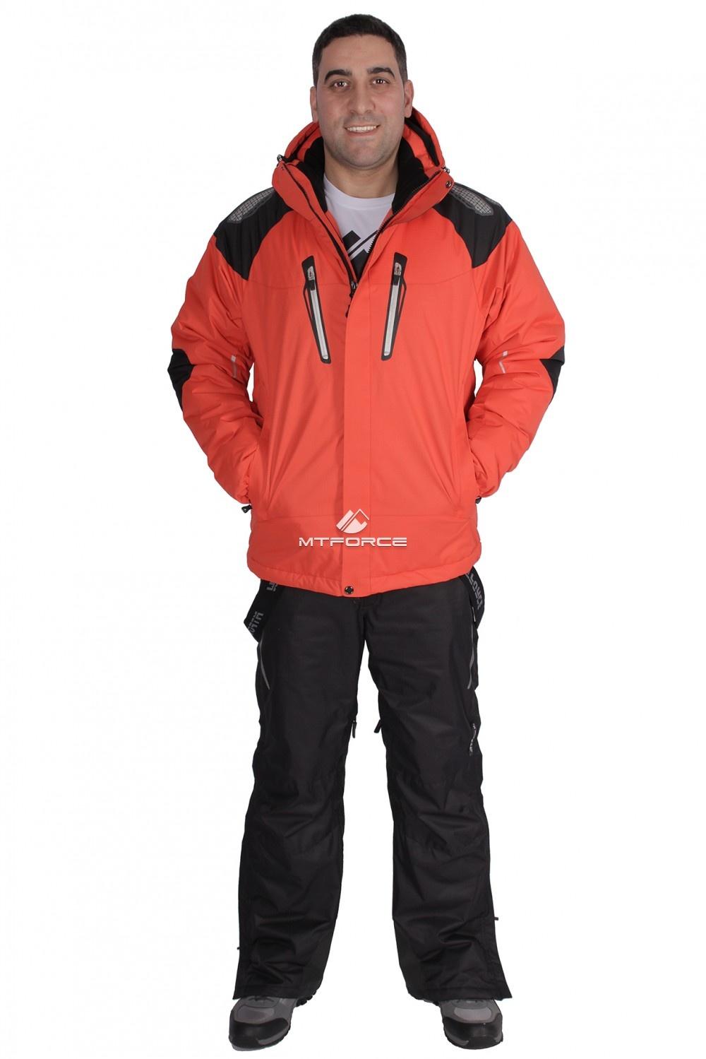 Купить                                  оптом Костюм горнолыжный мужской оранжевого цвета 01657O