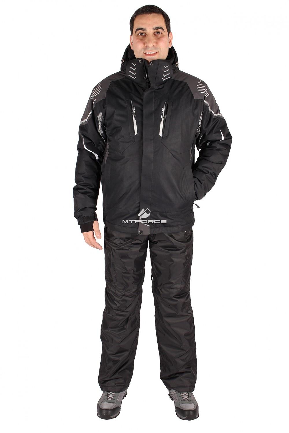 Купить оптом Костюм горнолыжный мужской черного цвета 01558Ch