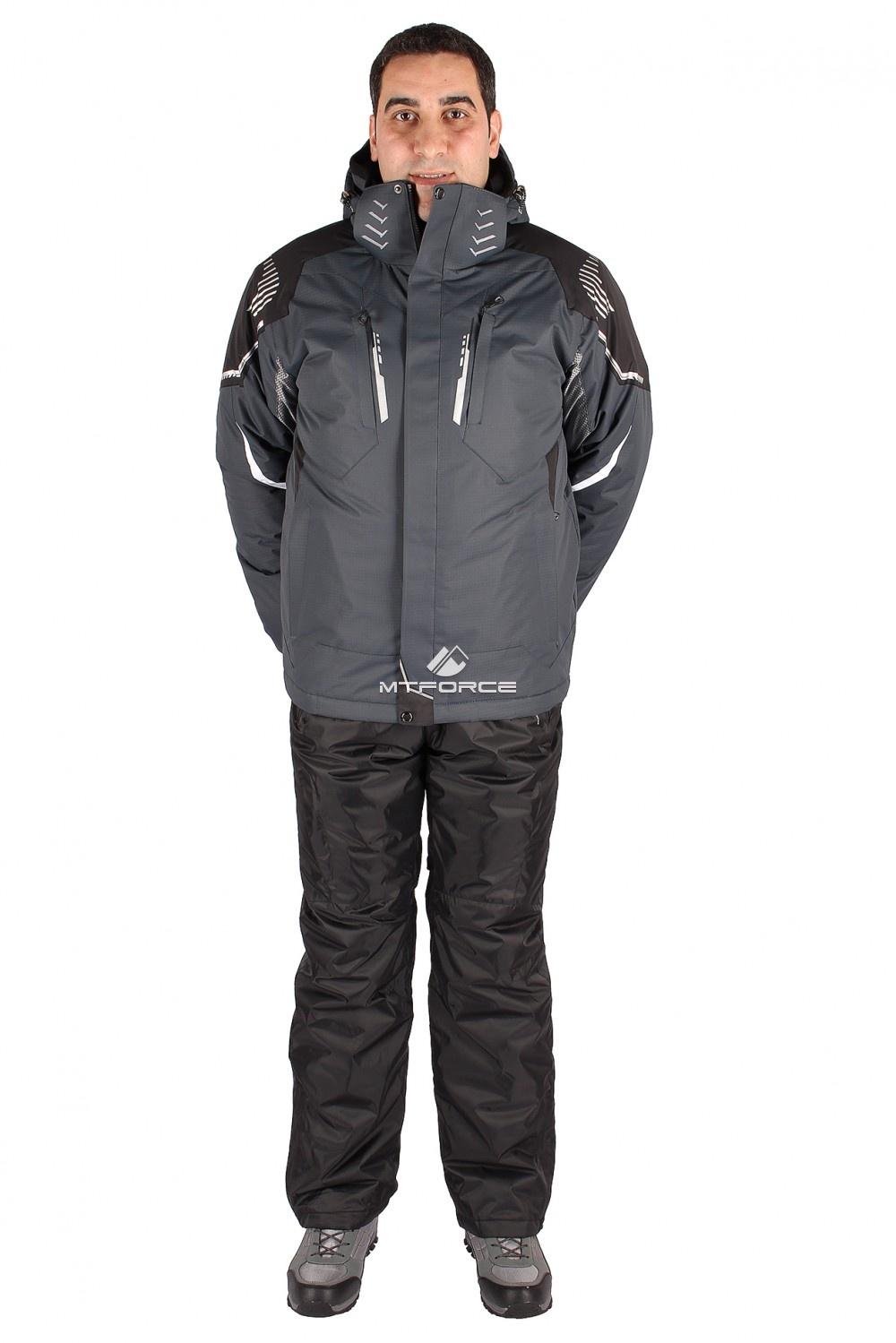 Купить оптом Костюм горнолыжный мужской серого цвета 01558Sr в Санкт-Петербурге