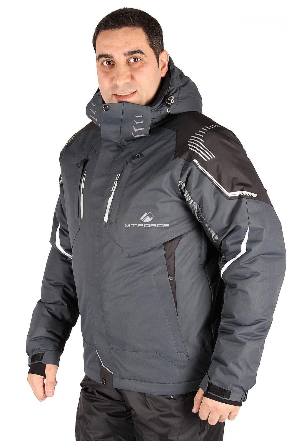 Купить  оптом Куртка горнолыжная мужская серого цвета 1558Sr