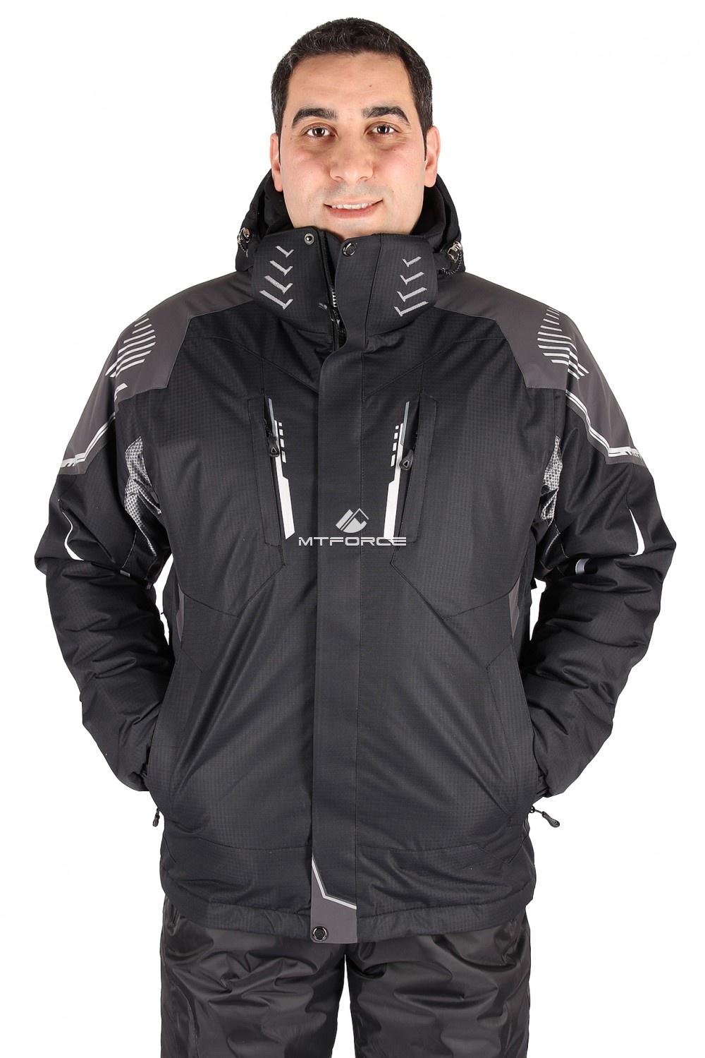 Купить оптом Куртка горнолыжная мужская черного цвета 1558Ch