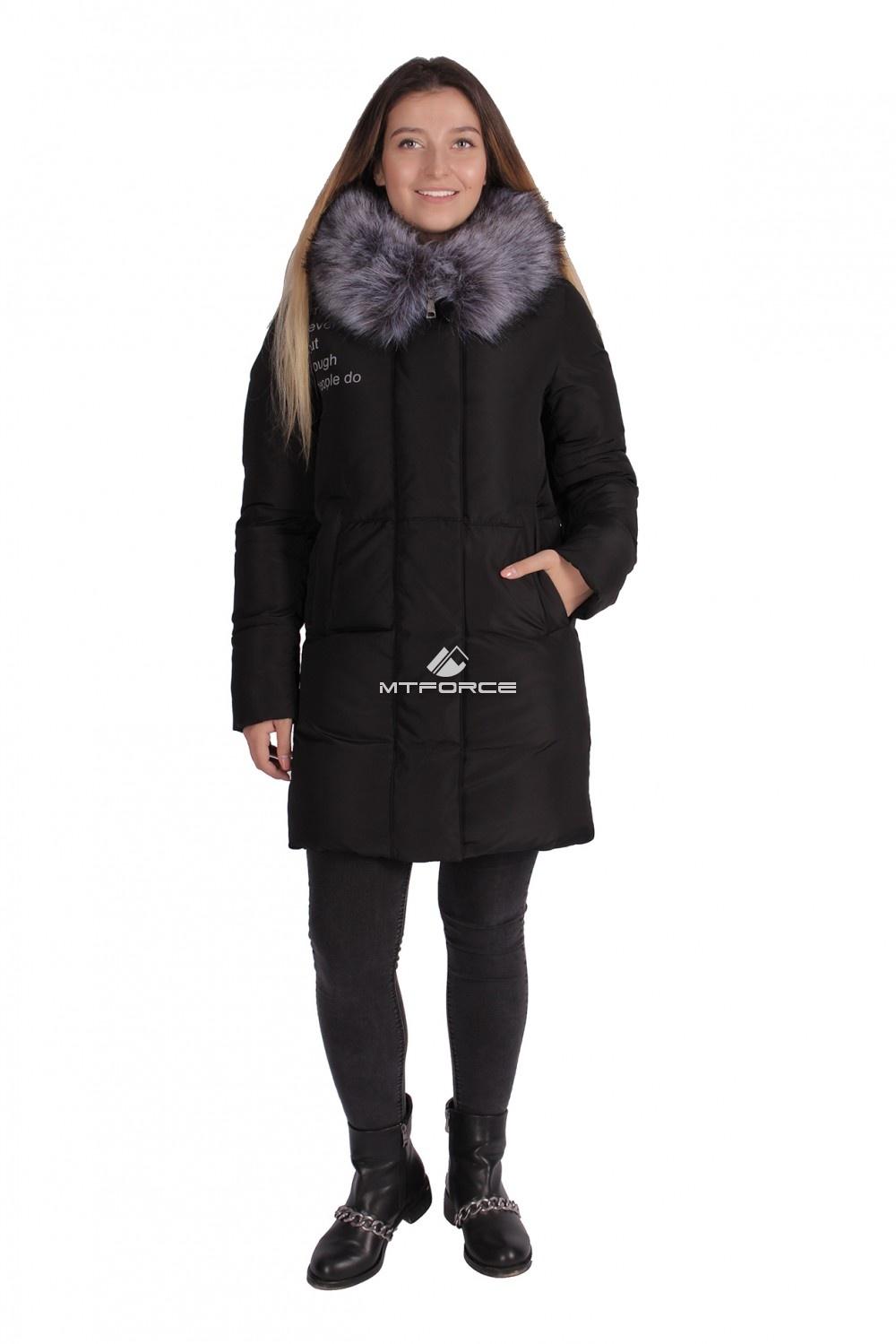 Купить                                  оптом Пуховик ТРЕНД женский зимний черного цвета 16016Ch в Санкт-Петербурге