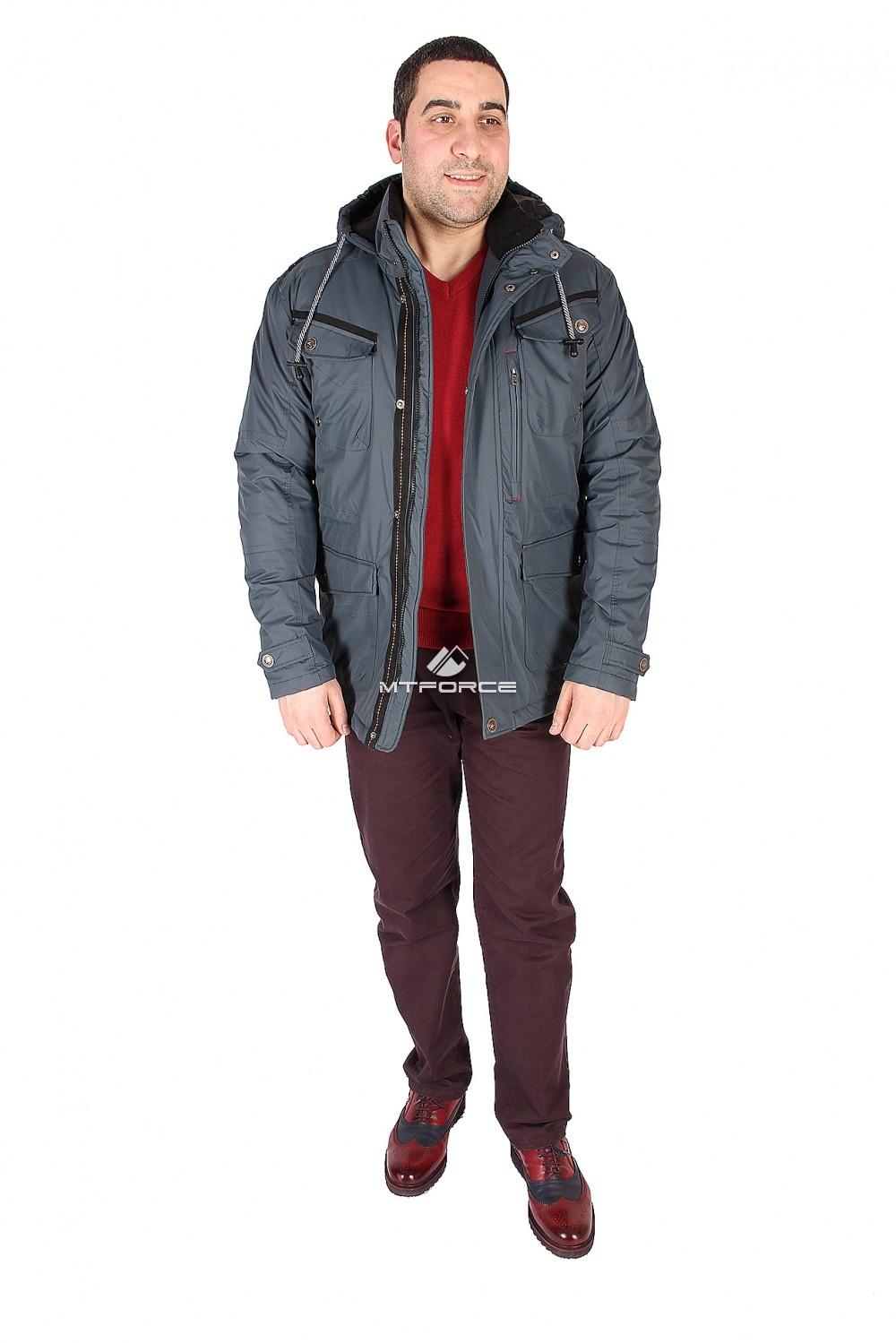 Купить                                  оптом Куртка классическая мужская синего цвета 1601S