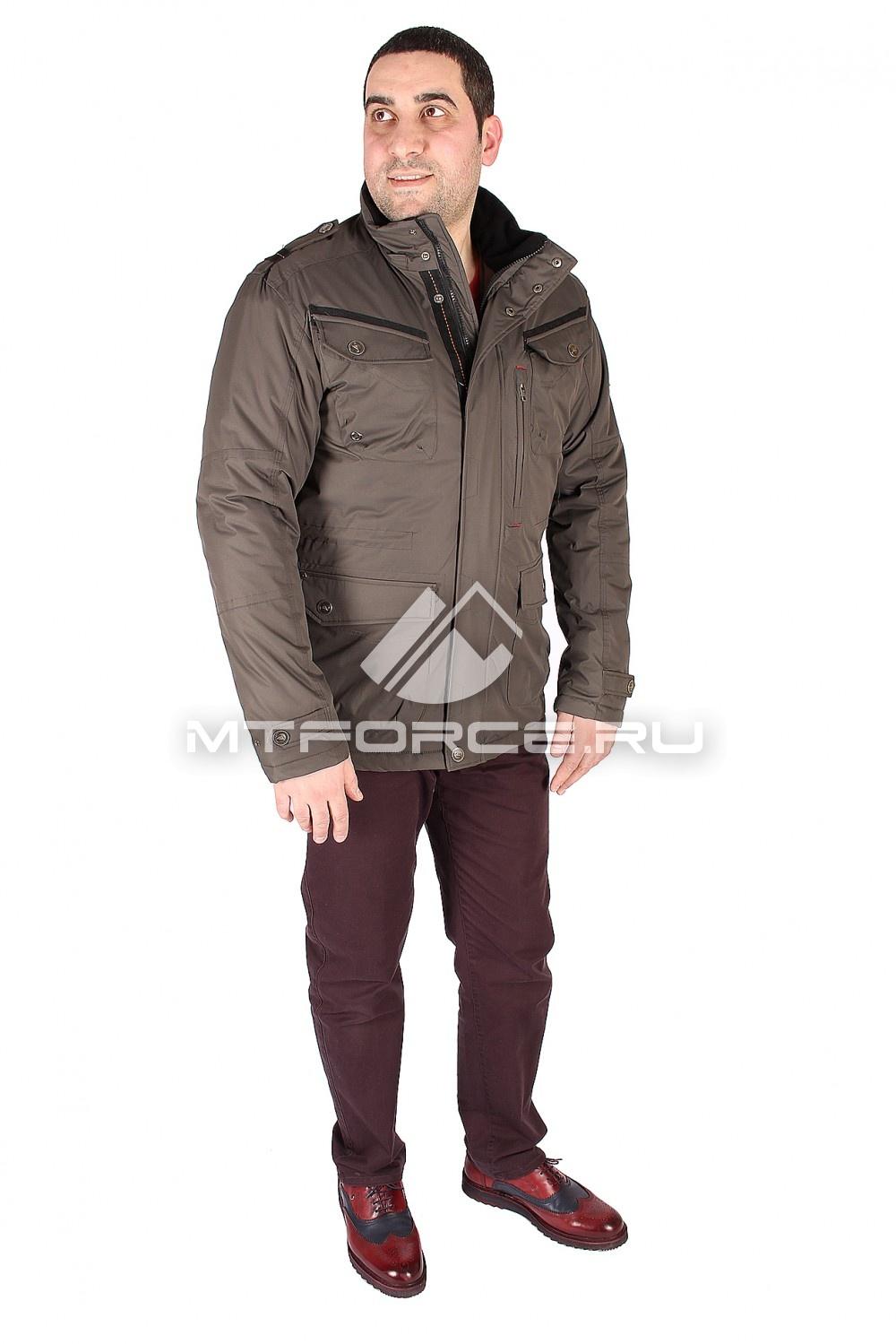 Купить                                  оптом Куртка классическая мужская цвета хаки 1601Kh в Санкт-Петербурге