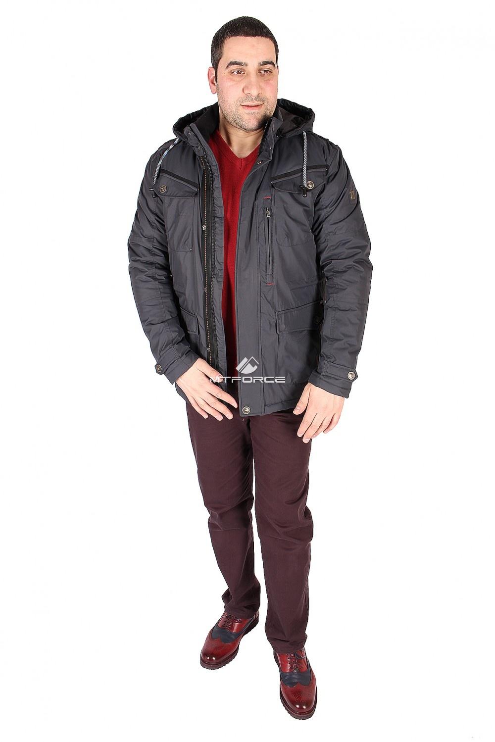 Купить                                  оптом Куртка классическая мужская цвета темно-синего 1601TS