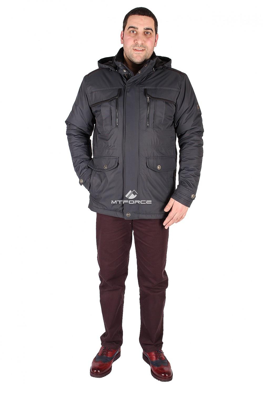 Купить                                  оптом Куртка классическая мужская темно-синего цвета 1602TS