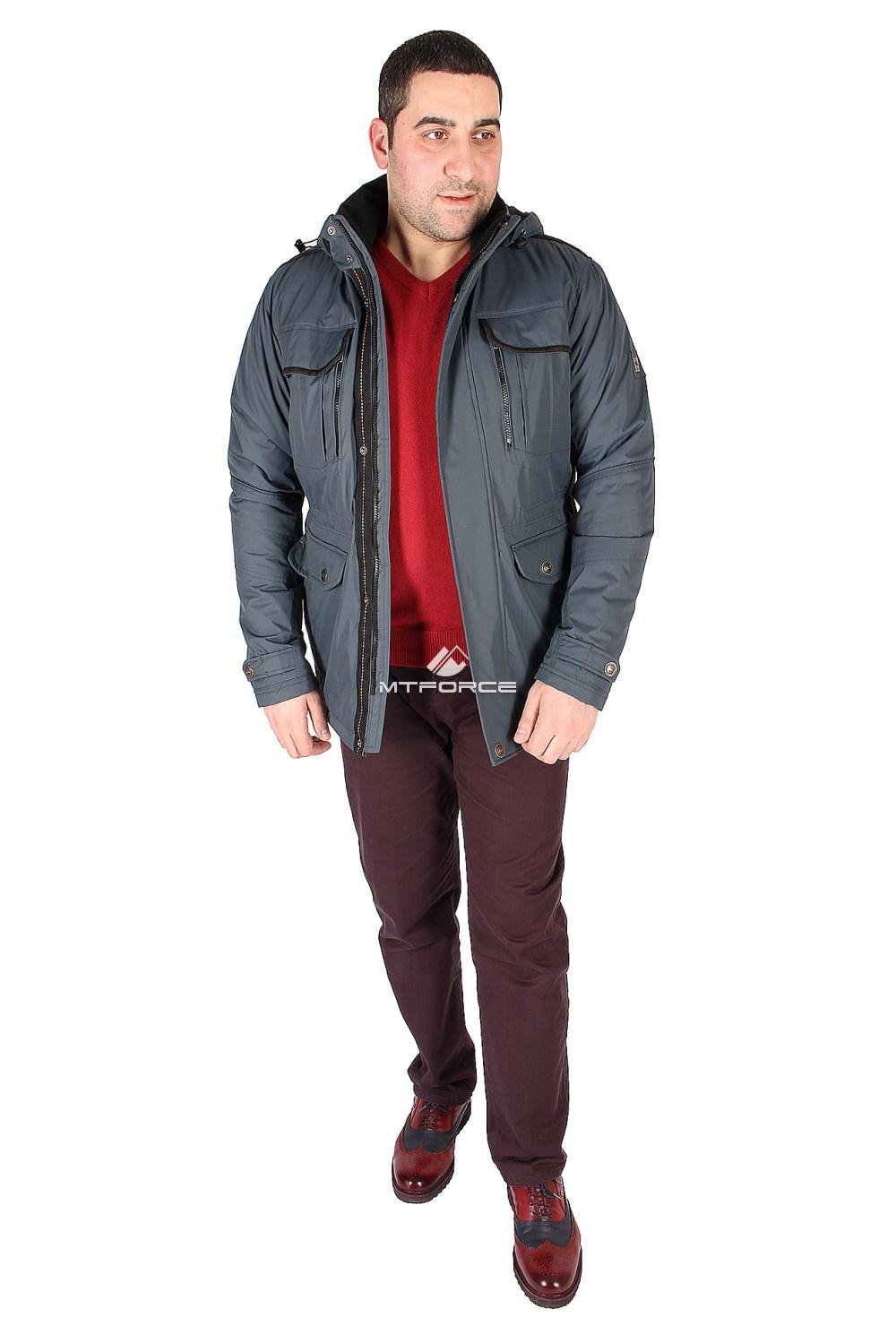 Купить  оптом Куртка классическая мужская синего цвета 1602S