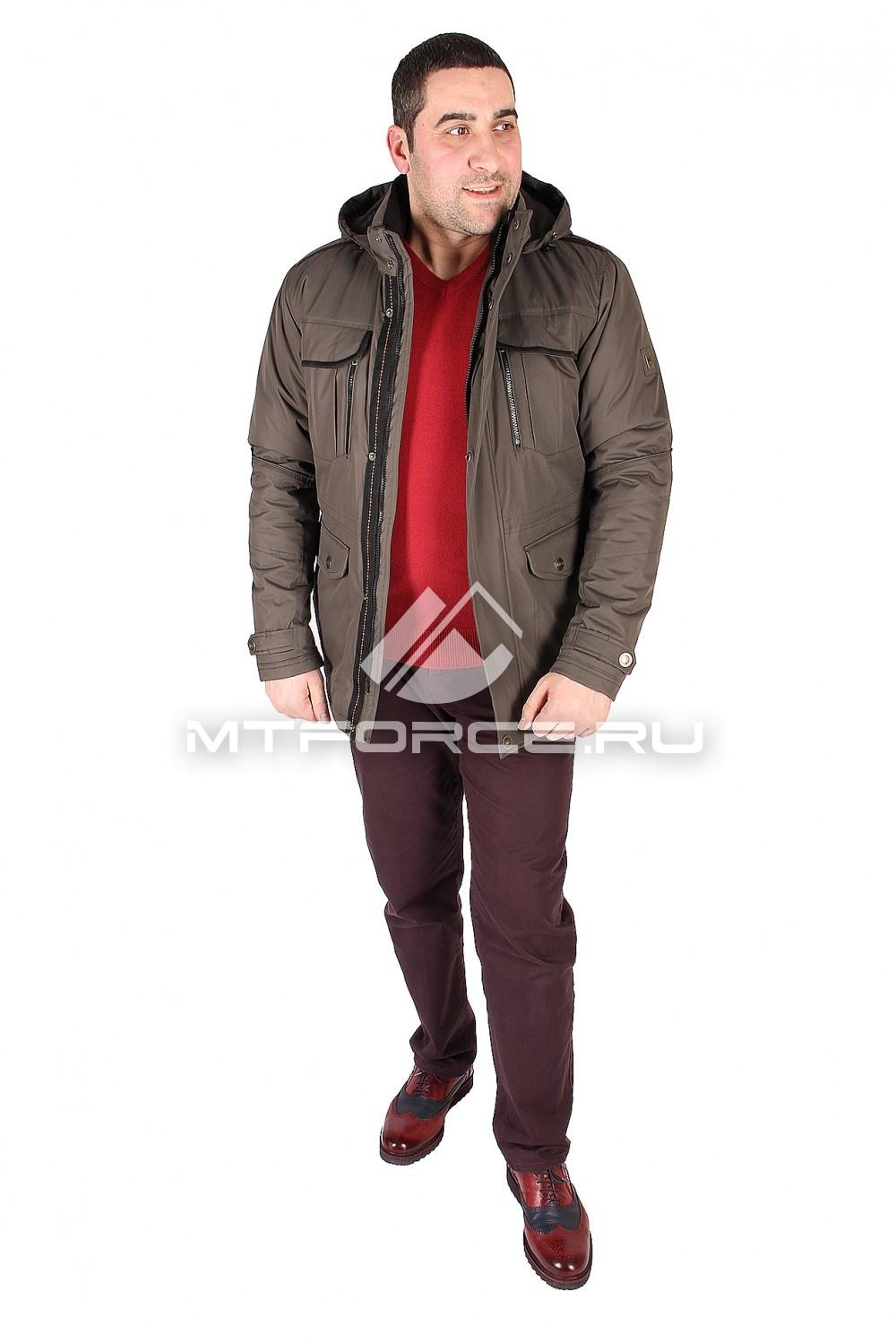 Купить оптом Куртка классическая мужская цвета хаки 1602Kh