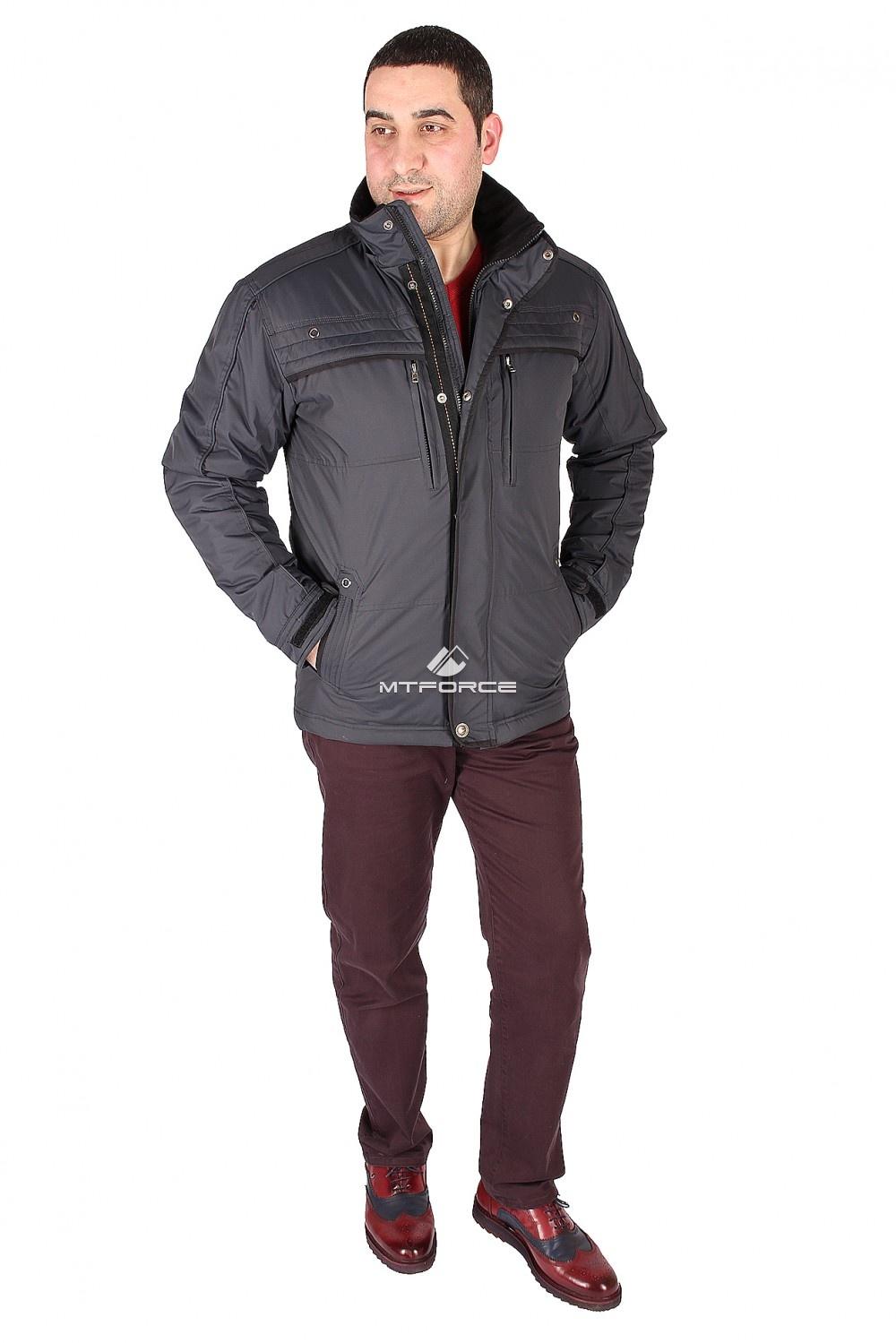Купить  оптом Куртка классическая мужская темно-синего цвета 1603TS
