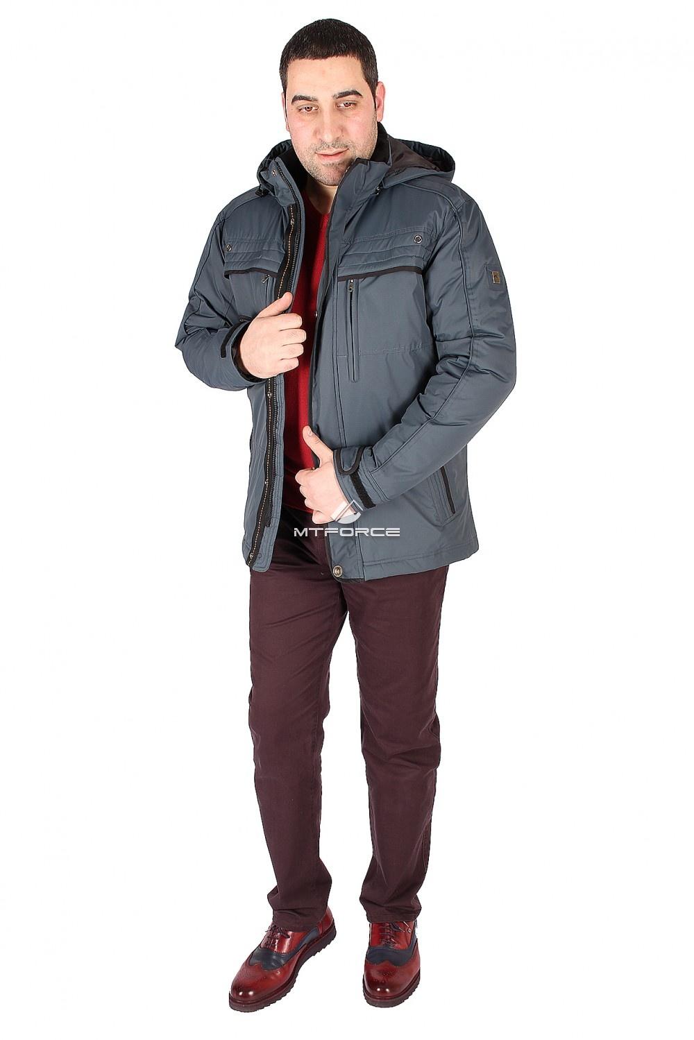 Купить оптом Куртка классическая мужская синего цвета 1603S