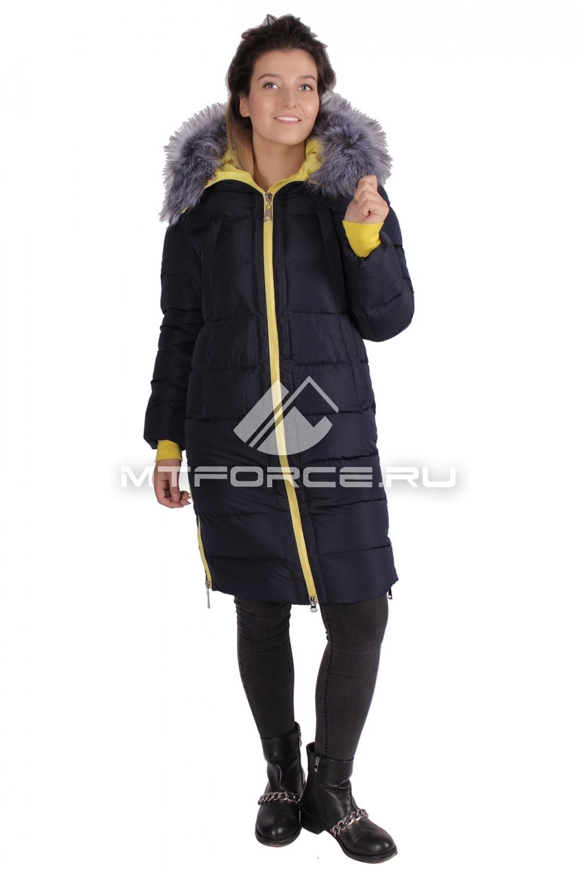 Купить                                  оптом Пуховик ТРЕНД женский зимний темно-синего цвета 16053TS