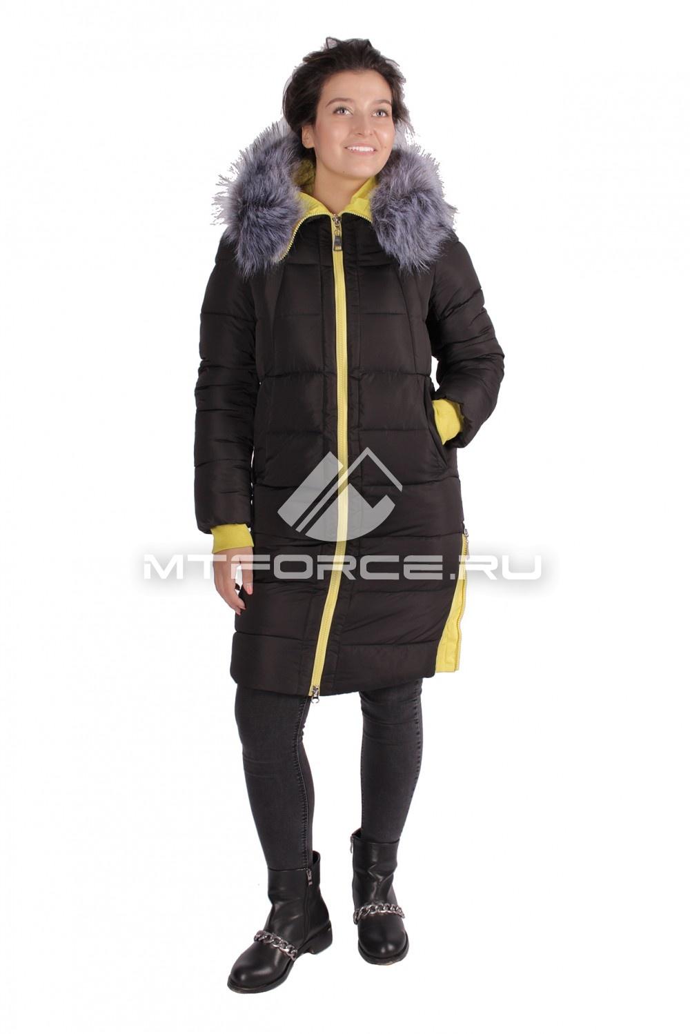Купить                                  оптом Пуховик ТРЕНД женский зимний черного цвета 16053Ch