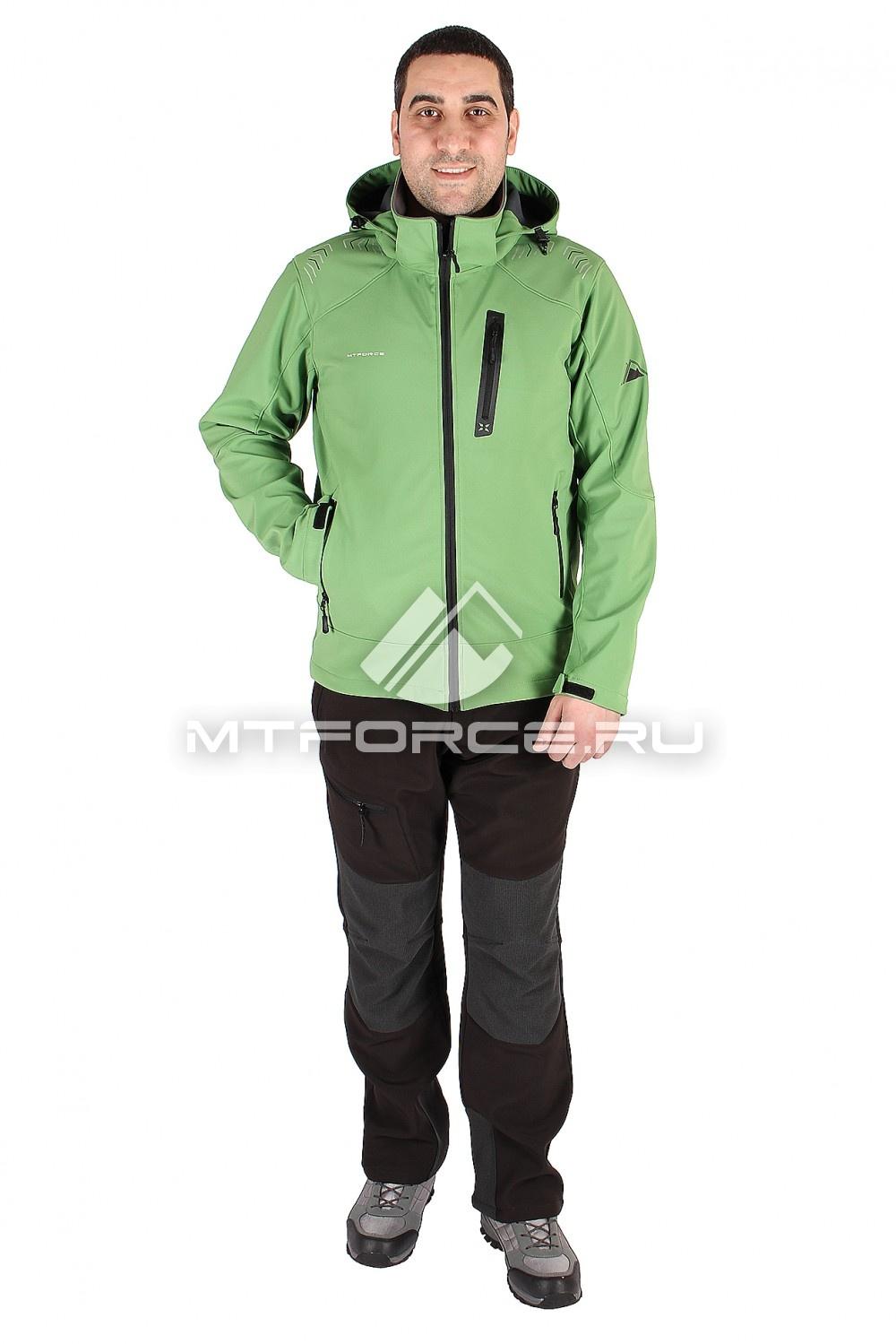Купить                                  оптом Костюм виндстопер мужской зеленного цвета  01605Z