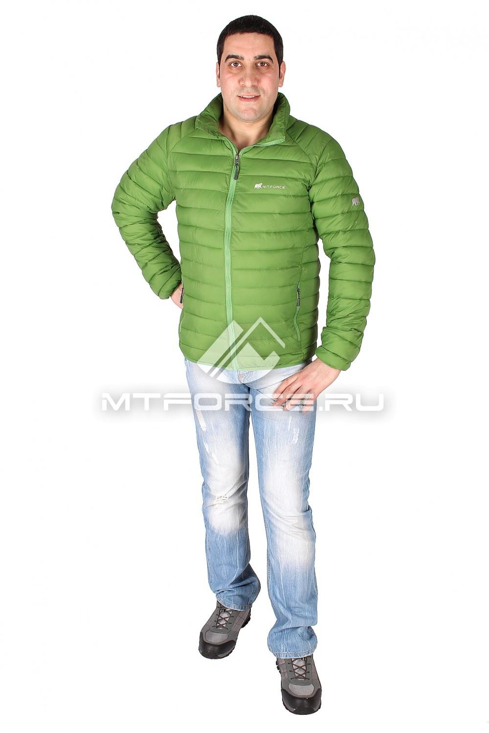 Купить                                  оптом Куртка мужская стеганная зеленого цвета 1607Z