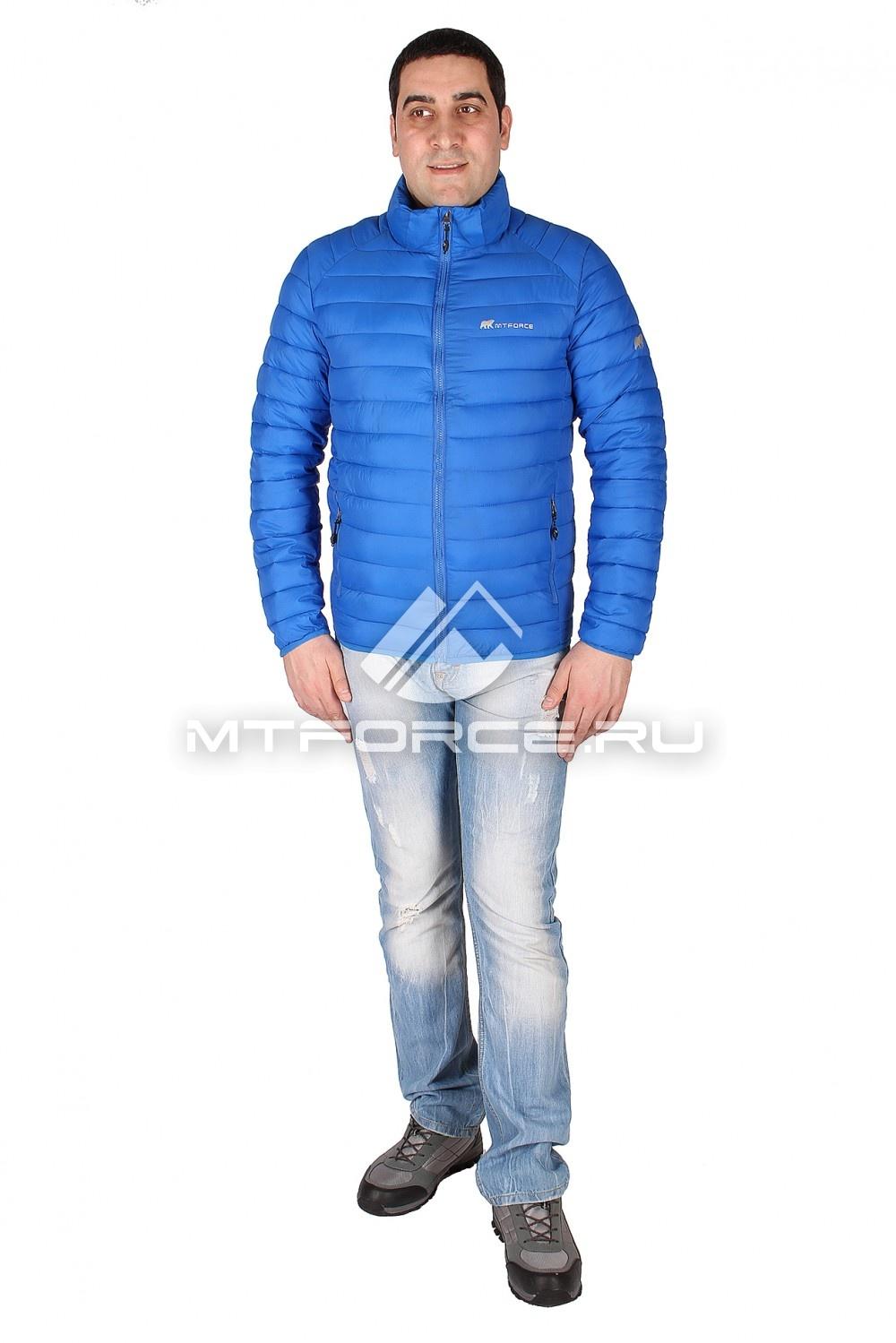 Купить                                  оптом Куртка мужская стеганная синего цвета 1607S