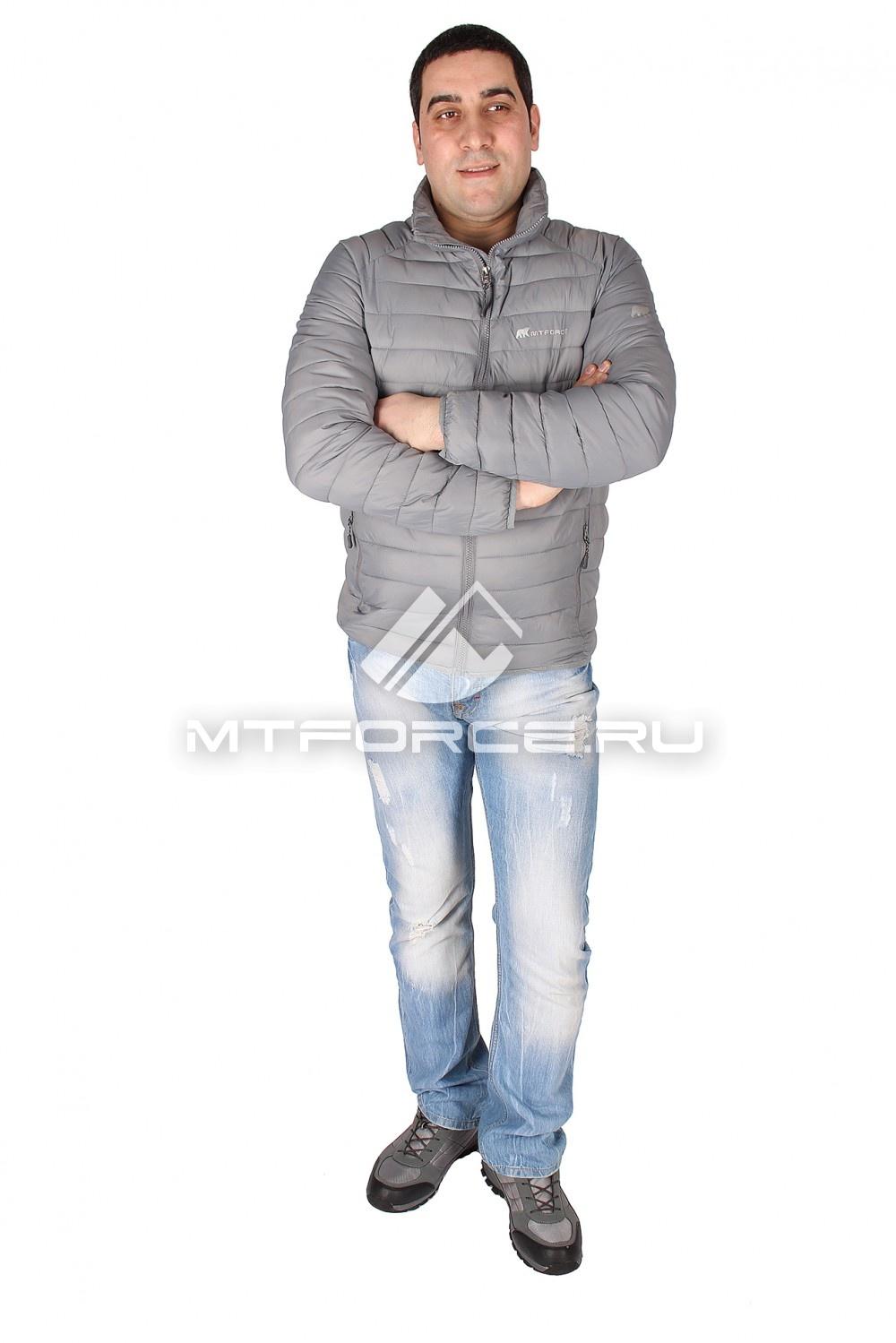 Купить                                  оптом Куртка мужская стеганная серого цвета 1607Sr