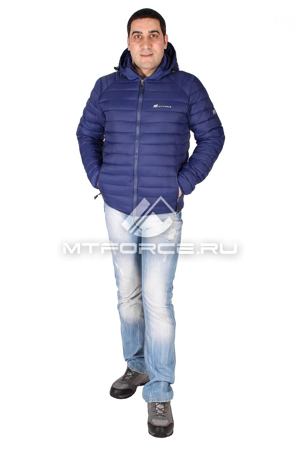 Купить                                  оптом Куртка мужская стеганная темно-синего цвета 1607TS