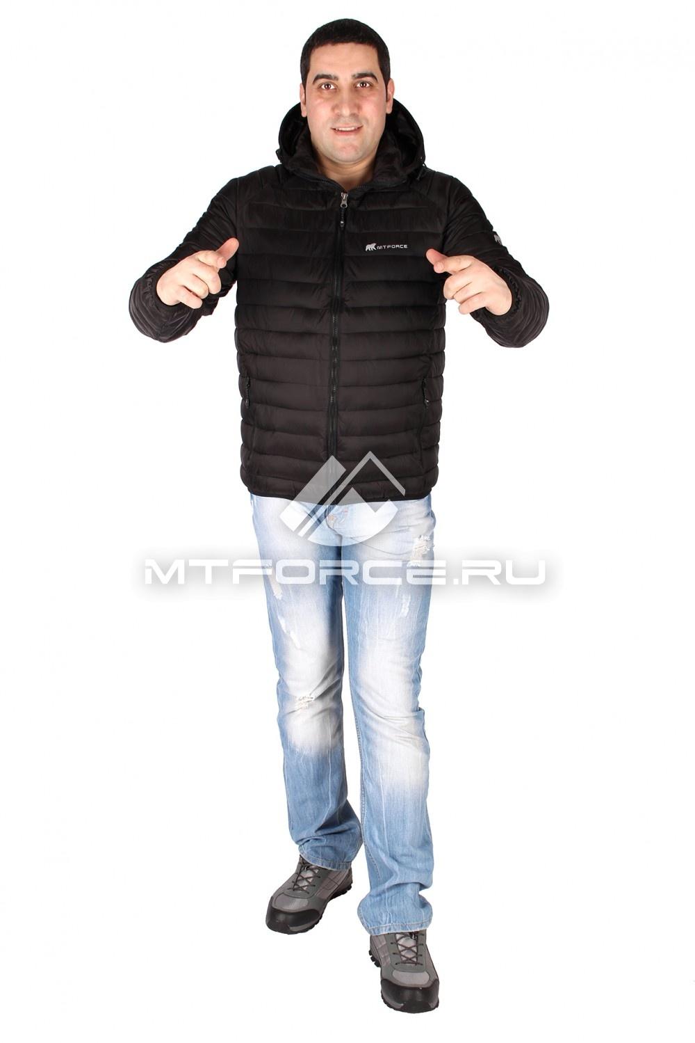 Купить                                  оптом Куртка мужская стеганная черного цвета 1607Ch